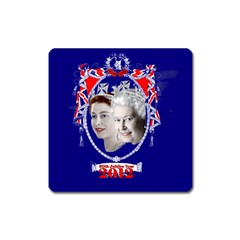 Queen Elizabeth 2012 Jubilee Year Large Sticker Magnet (square) by artattack4all