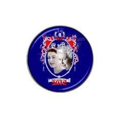 Queen Elizabeth 2012 Jubilee Year Golf Ball Marker (for Hat Clip)