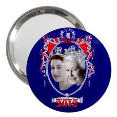 Queen Elizabeth 2012 Jubilee Year 3  Handbag Mirror by artattack4all