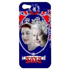 Queen Elizabeth 2012 Jubilee Year Apple Iphone 5 Hardshell Case by artattack4all