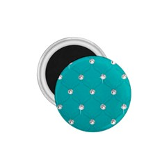 Turquoise Diamond Bling Small Magnet (round) by artattack4all