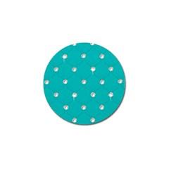 Turquoise Diamond Bling 10 Pack Golf Ball Marker by artattack4all