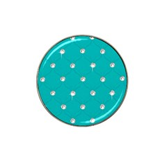 Turquoise Diamond Bling Golf Ball Marker (for Hat Clip) by artattack4all