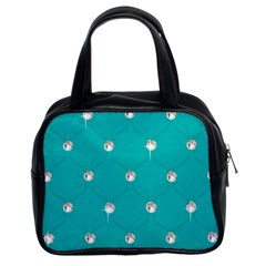 Turquoise Diamond Bling Twin Sided Satched Handbag by artattack4all