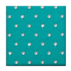 Turquoise Diamond Bling Face Towel by artattack4all
