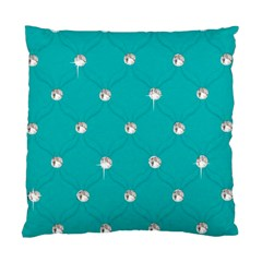 Turquoise Diamond Bling Twin Sided Cushion Case by artattack4all
