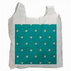 Turquoise Diamond Bling Twin Sided Reusable Shopping Bag by artattack4all