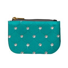 Turquoise Diamond Bling Coin Change Purse