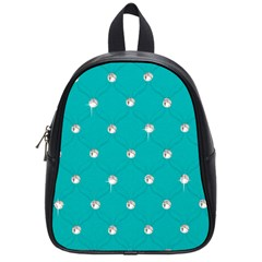 Turquoise Diamond Bling Small School Backpack by artattack4all
