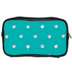 Turquoise Diamond Bling Twin Sided Personal Care Bag by artattack4all