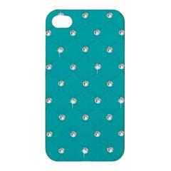 Turquoise Diamond Bling Apple Iphone 4/4s Premium Hardshell Case by artattack4all