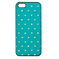 Turquoise Diamond Bling Apple Iphone 5 Seamless Case (black) by artattack4all