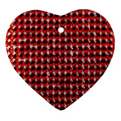Deep Red Sparkle Bling Ceramic Ornament (heart) by artattack4all