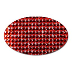 Deep Red Sparkle Bling Large Sticker Magnet (oval) by artattack4all