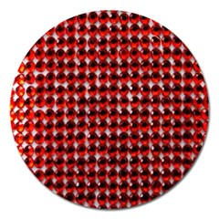 Deep Red Sparkle Bling Extra Large Sticker Magnet (Round) by artattack4all