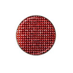 Deep Red Sparkle Bling 4 Pack Golf Ball Marker (for Hat Clip) by artattack4all