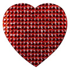 Deep Red Sparkle Bling Jigsaw Puzzle (heart) by artattack4all