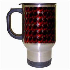 Deep Red Sparkle Bling Brushed Chrome Travel Mug by artattack4all
