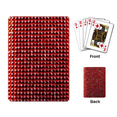 Deep Red Sparkle Bling Standard Playing Cards by artattack4all