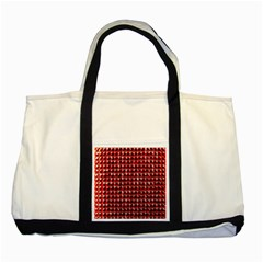 Deep Red Sparkle Bling Two Toned Tote Bag by artattack4all