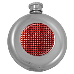 Deep Red Sparkle Bling Hip Flask (round) by artattack4all