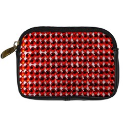 Deep Red Sparkle Bling Compact Camera Case by artattack4all