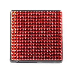 Deep Red Sparkle Bling Card Reader With Storage (square) by artattack4all