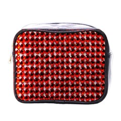 Deep Red Sparkle Bling Single Sided Cosmetic Case by artattack4all