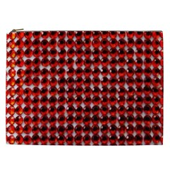 Deep Red Sparkle Bling Cosmetic Bag (xxl) by artattack4all