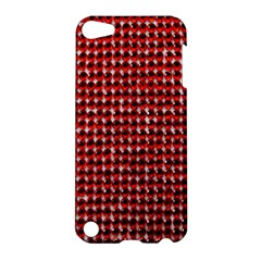 Deep Red Sparkle Bling Apple Ipod Touch 5 Hardshell Case by artattack4all