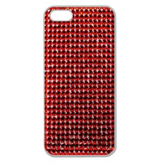 Deep Red Sparkle Bling Apple Seamless Iphone 5 Case (clear) by artattack4all