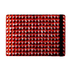 Deep Red Sparkle Bling Apple Ipad Mini Flip Case by artattack4all