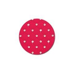Red Diamond Bling  4 Pack Golf Ball Marker by artattack4all
