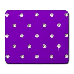 Royal Purple Sparkle Bling Large Mouse Pad (rectangle) by artattack4all