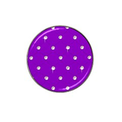 Royal Purple Sparkle Bling Golf Ball Marker (for Hat Clip) by artattack4all