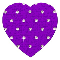 Royal Purple Sparkle Bling Jigsaw Puzzle (heart) by artattack4all
