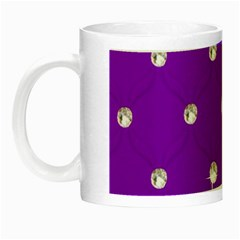 Royal Purple Sparkle Bling Glow In The Dark Mug by artattack4all