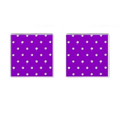 Royal Purple Sparkle Bling Square Cuff Links by artattack4all