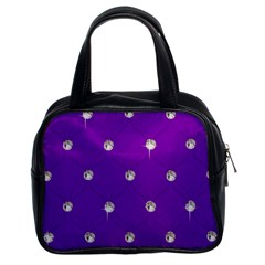 Royal Purple Sparkle Bling Twin Sided Satched Handbag by artattack4all