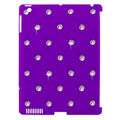 Royal Purple Sparkle Bling Apple Ipad 3/4 Hardshell Case (compatible With Smart Cover) by artattack4all