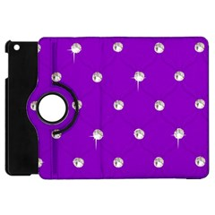 Royal Purple Sparkle Bling Apple Ipad Mini Flip 360 Case by artattack4all