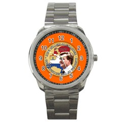 King Willem Alexander Stainless Steel Sports Watch (round) by artattack4all