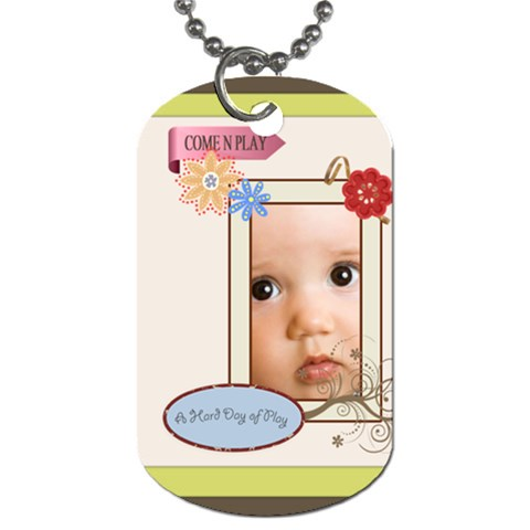 Kids By Joely   Dog Tag (one Side)   Suk7gdgftwcw   Www Artscow Com Front