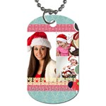 family, xmas - Dog Tag (One Side)