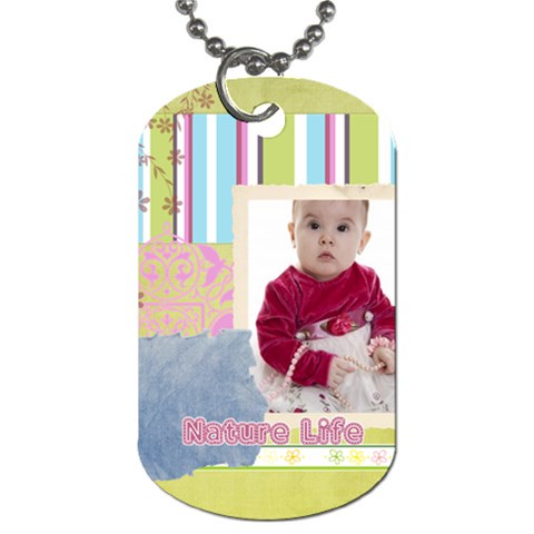 Kids By Debe Lee   Dog Tag (one Side)   6bglgteidkkg   Www Artscow Com Front