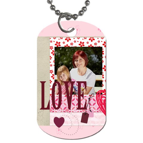 Kids, Love By Jacob   Dog Tag (one Side)   8pzl3bh8p8qz   Www Artscow Com Front