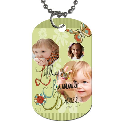 Kids By Jacob   Dog Tag (one Side)   Iq3p1ji23sgu   Www Artscow Com Front