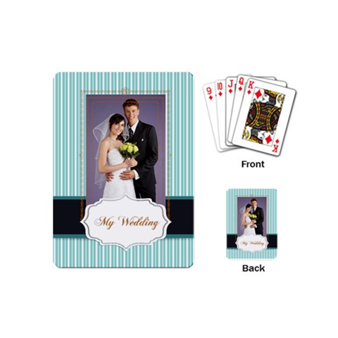 Wedding By Paula Green   Playing Cards (mini)   Ux7yymoczixl   Www Artscow Com Back