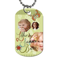 Kids, Love, Happy, Play, Fun, Child By Jacob   Dog Tag (two Sides)   5ltyi5uzx699   Www Artscow Com Back