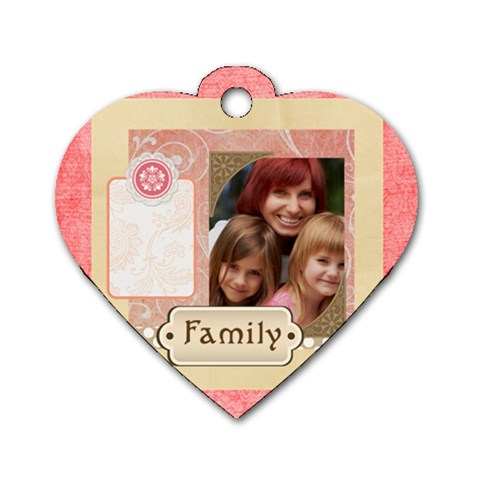 Kids, Love, Happy, Play, Fun, Child By Jacob   Dog Tag Heart (one Side)   Dytflwyokp99   Www Artscow Com Front